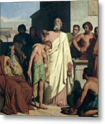 Annointing Of David By Saul Metal Print by Felix-Joseph Barrias