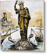 Anti-immigration Cartoon Metal Print by Granger