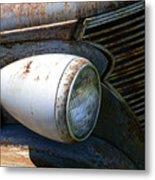 Antique Car Headlight Metal Print by Douglas Barnett