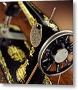 Antique Singer Sewing Machine 3 Metal Print by Kelley King