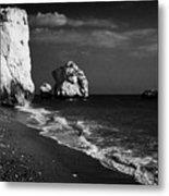 Aphrodites Rock Petra Tou Romiou Republic Of Cyprus Metal Print by Joe Fox