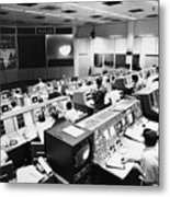 Apollo 8: Mission Control Metal Print by Granger