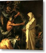 Apparition Of The Spirit Of Samuel To Saul Metal Print by Salvator Rosa