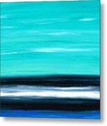 Aqua Sky - Bold Abstract Landscape Art Metal Print by Sharon Cummings
