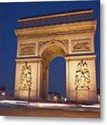 Arc De Triomphe, Paris, France Metal Print by David Min
