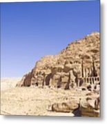 Archaeological Remains Of Petra  Unesco World Heritage Site Jordan, Middle East Metal Print by Gallo Images