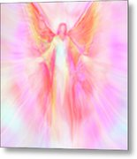 Archangel Metatron Reaching Out In Compassion Metal Print by Glenyss Bourne