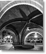 Arched In Black And White Metal Print by CJ Schmit