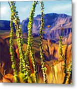 Arizona Superstition Mountains Metal Print by Bob Salo