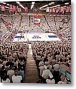 Arizona Wildcats White Out At Mckale Center Metal Print by Replay Photos