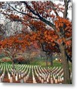 Arlington Cemetery In Fall Metal Print by Carolyn Marshall