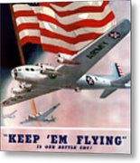Army Air Corps Recruiting Poster Metal Print by War Is Hell Store