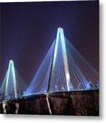 Arthur Ravenel Bridge Metal Print by Corky Willis Atlanta Photography