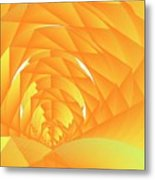 As The Cyber Sun Shrinks And Sets Metal Print by Michael Skinner