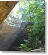 Ash Cave Metal Print by Mindy Newman