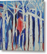 Aspen Roots Metal Print by Christy Woodland