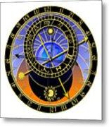 Astronomical Clock Metal Print by Michal Boubin