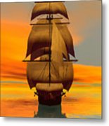 At Full Sail Metal Print by Sandra Bauser Digital Art