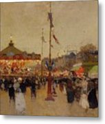 At The Fair  Metal Print by Luigi Loir