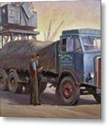 Atkinson At The Docks Metal Print by Mike  Jeffries