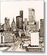 Atlanta Skyline Metal Print by Pamir Thompson