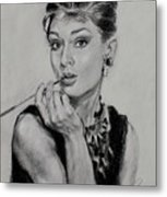 Audrey Hepburn Metal Print by Ylli Haruni