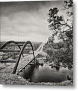 Austin 360 Bridge In Early Dawn Metal Print by Lisa  Spencer