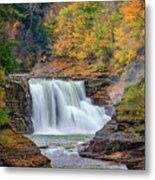 Autumn At The Lower Falls Metal Print by Rick Berk