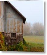 Autumn Barn Metal Print by Jill Battaglia