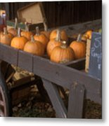 Autumn Farmstand Metal Print by John Burk