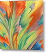 Autumn Flame Metal Print by Lucy Arnold