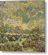 Autumn Landscape Metal Print by Vincent Van Gogh