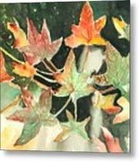 Autumn Leaves Metal Print by Arline Wagner