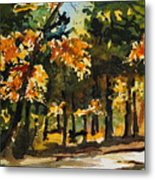 Autumn On The Natchez Trace Metal Print by Spencer Meagher