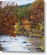 Autumn River Metal Print by Jack Skinner
