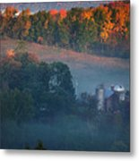 Autumn Scenic - West Rupert Vermont Metal Print by Thomas Schoeller