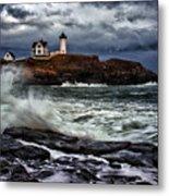 Autumn Storm At Cape Neddick Metal Print by Rick Berk