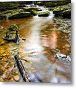 Autumnal Waterfall Metal Print by Meirion Matthias