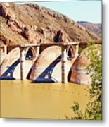Az 2011 Apache Res - Coolidge Dam Metal Print by Gregory Jeffries