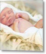 Baby Jesus Metal Print by Jennifer Hickey