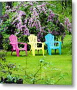 Back Yard Tranquility Metal Print by Jim  Calarese