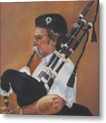 Bag Pipe Metal Print by Leonor Thornton