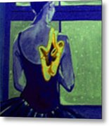 Ballerine En Hiver Metal Print by Rusty Woodward Gladdish