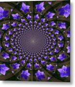 Balloon Flower Kaleidoscope Metal Print by Teresa Mucha