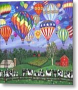 Balloon Race Two Metal Print by Linda Mears