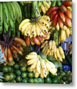 Banana Display. Metal Print by Jane Rix