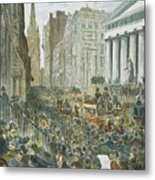 Bank Panic, 1884 Metal Print by Granger