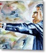 Barack Obama Commander In Chief Metal Print by Brian Degnon