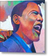 Barack Obama Metal Print by Glenford John