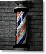 Barber Pole Blues  Metal Print by JC Photography and Art